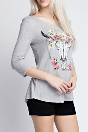 12pm by Mon Ami Gray Western Top - Product Mini Image