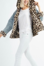 12pm by Mon Ami Leopard Denim - Front cropped