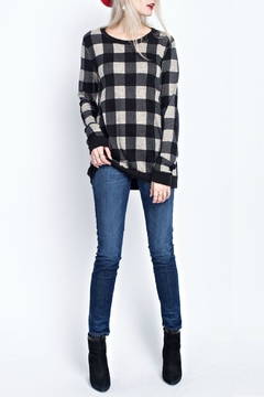 12pm by Mon Ami Mary Checked Sweater - Product List Image