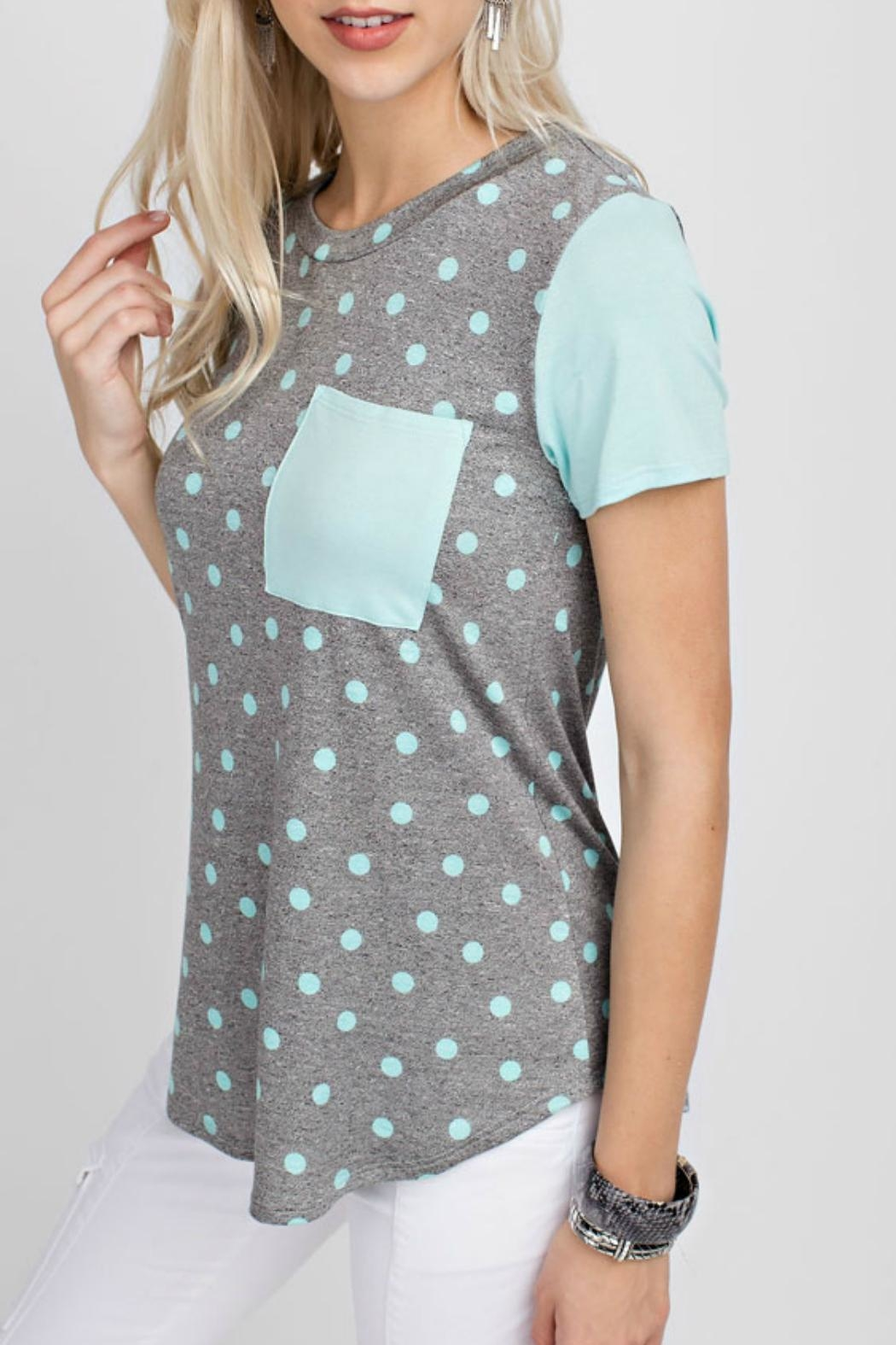 12pm by Mon Ami Mint Dot Top - Front Full Image