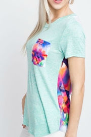 12pm by Mon Ami Mint Floral Top - Front full body