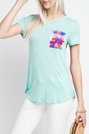 12pm by Mon Ami Mint Floral Top - Product Mini Image