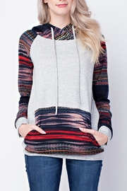 12pm by Mon Ami Multicolored Hoodie - Front cropped
