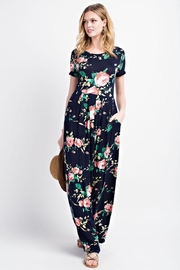 12pm by Mon Ami Navy Comfy Floral Maxi - Front full body
