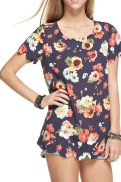 12pm by Mon Ami Navy Floral Top - Product List Image