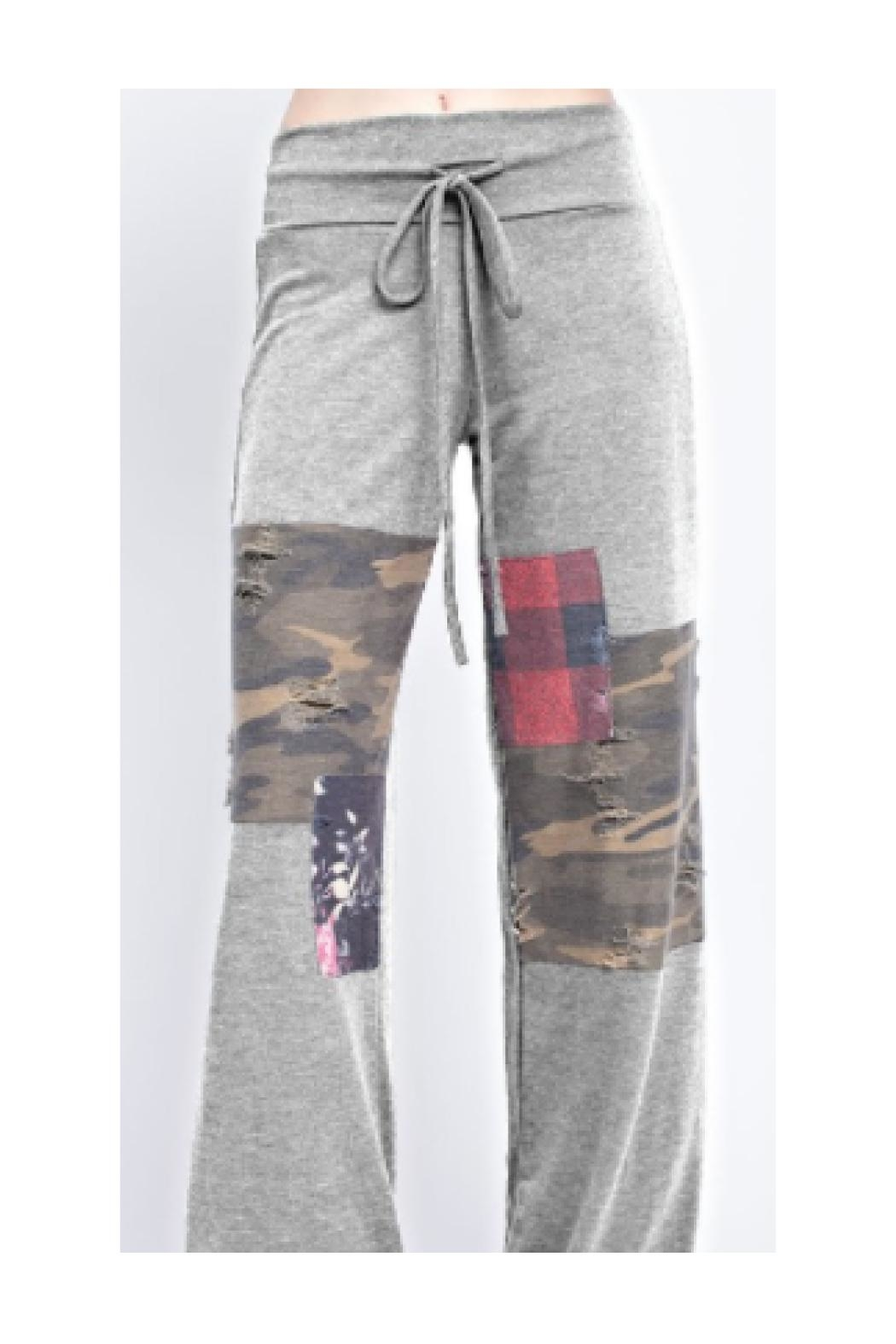 12pm by Mon Ami Patched Lounge Pants - Main Image