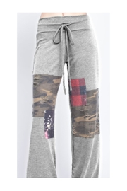 12pm by Mon Ami Patched Lounge Pants - Front cropped