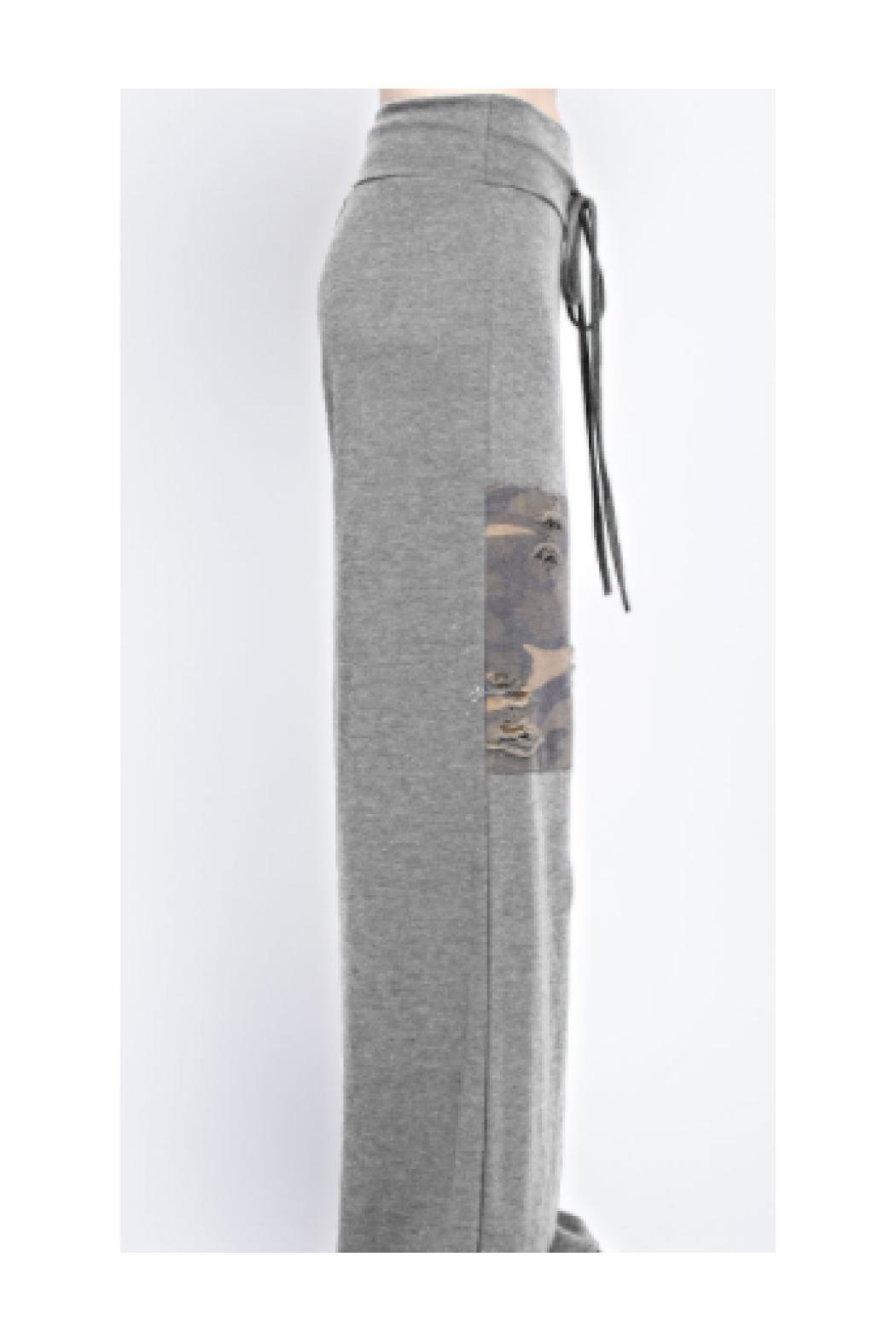 12pm by Mon Ami Patched Lounge Pants - Front Full Image