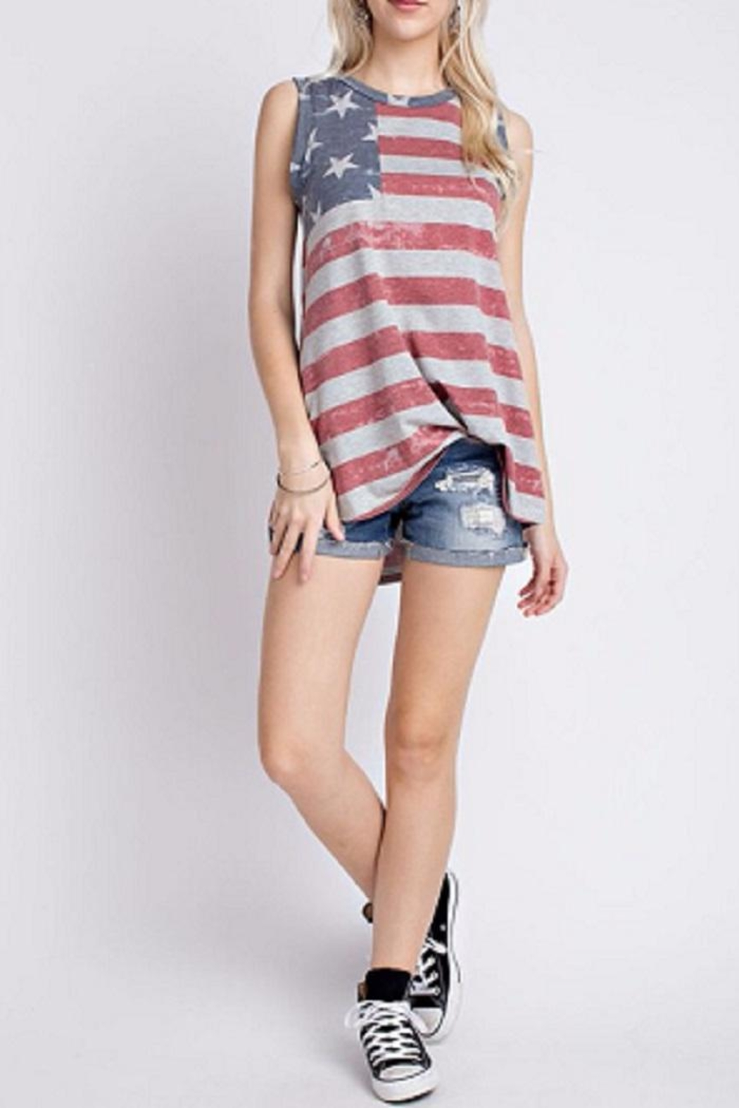 12pm by Mon Ami Patriotic Tank Top - Main Image