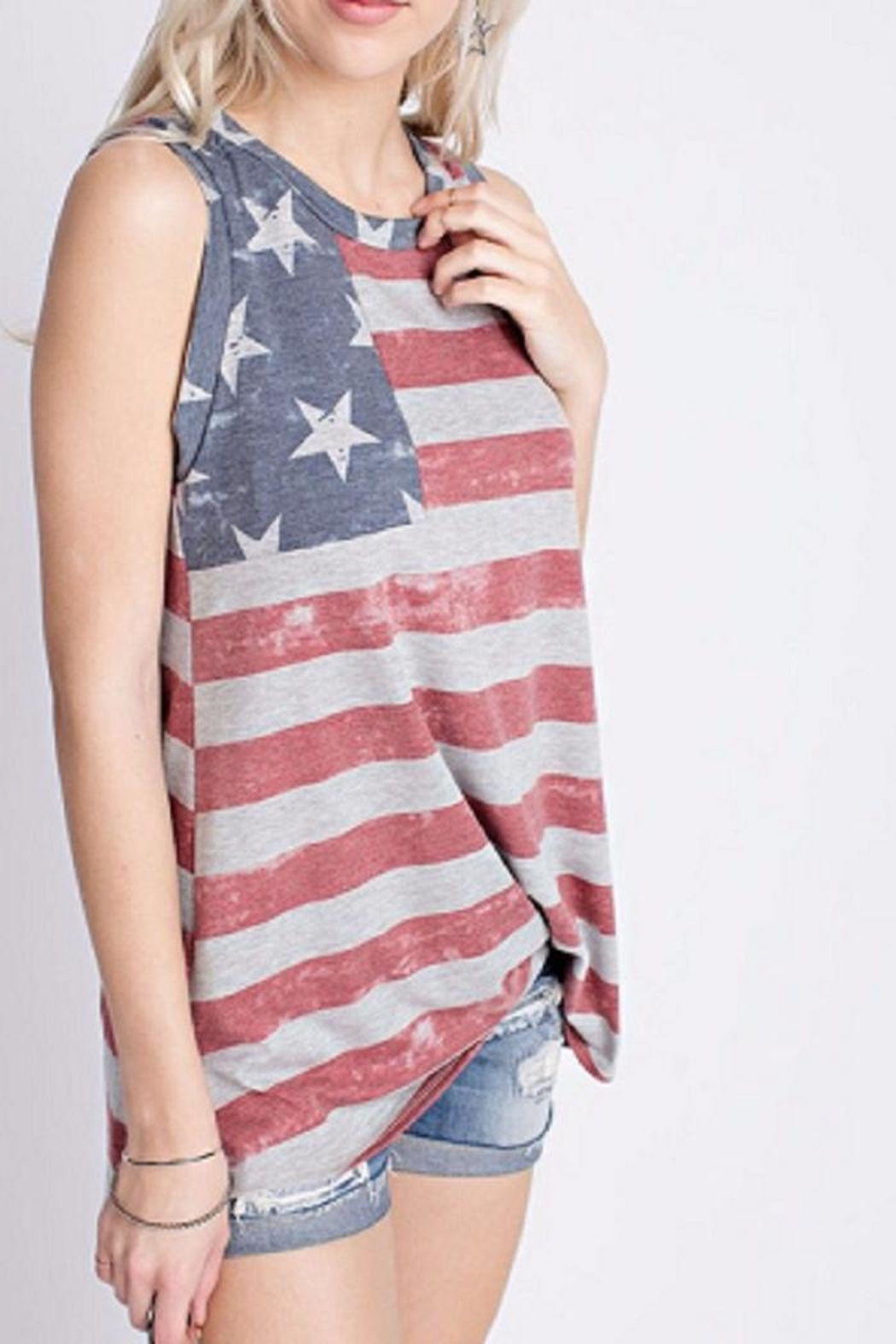 12pm by Mon Ami Patriotic Tank Top - Front Full Image