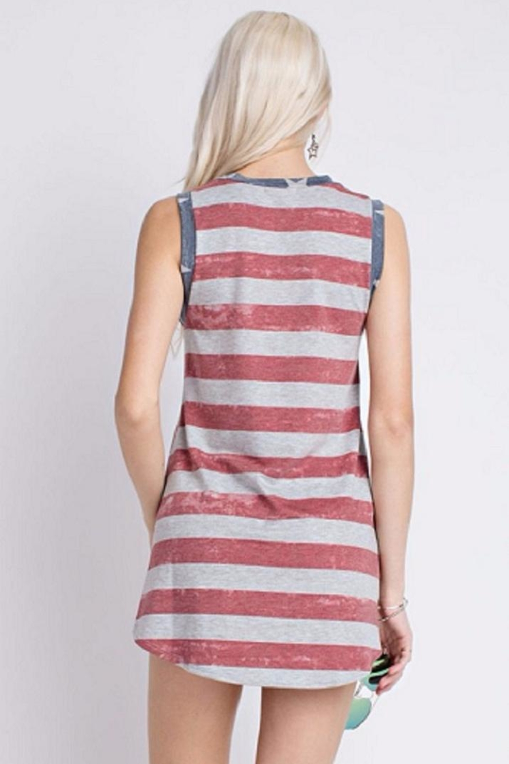12pm by Mon Ami Patriotic Tank Top - Side Cropped Image