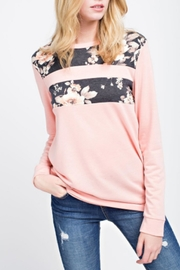 12pm by Mon Ami Peach Floral Top - Front cropped