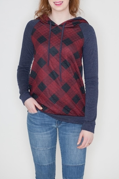 Shoptiques Product: Quilted Checkered Hoodie