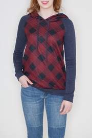12pm by Mon Ami Quilted Checkered Hoodie - Product Mini Image