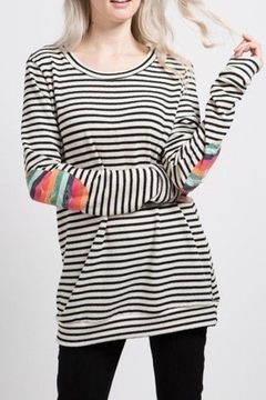 12pm by Mon Ami Rainbow Patch Sweatshirt - Product List Image