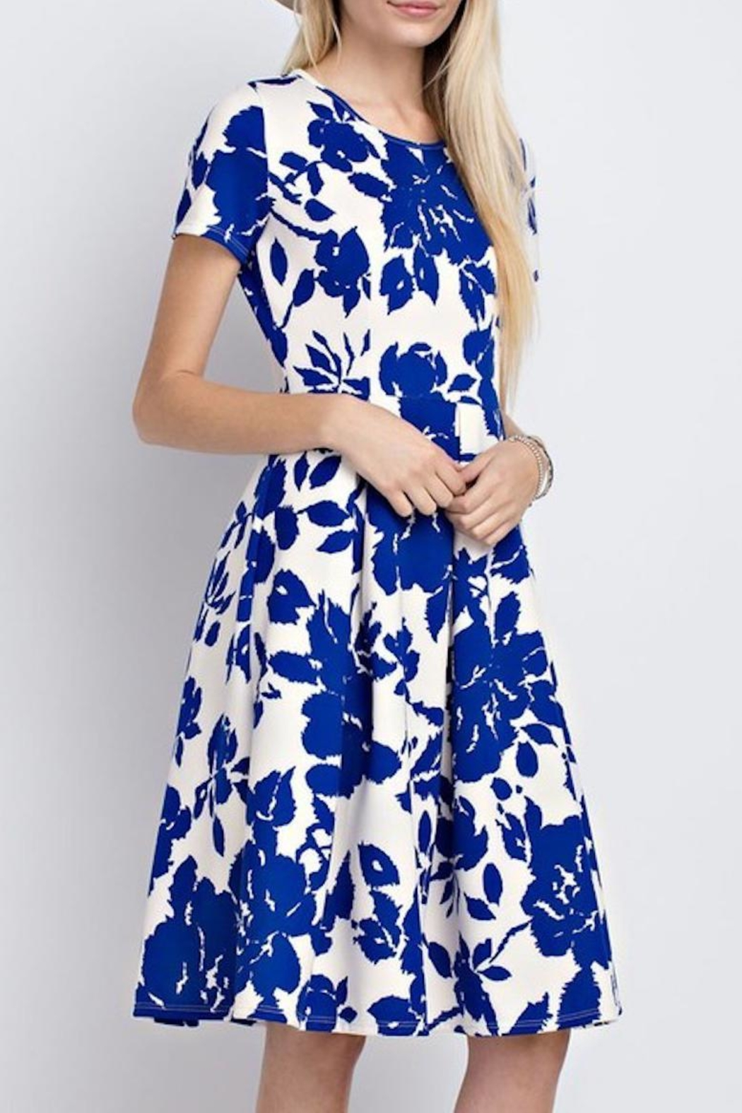 12pm by Mon Ami Royal Blue Floral - Front Full Image