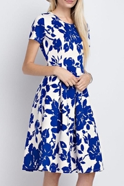 12pm by Mon Ami Royal Blue Floral - Front full body