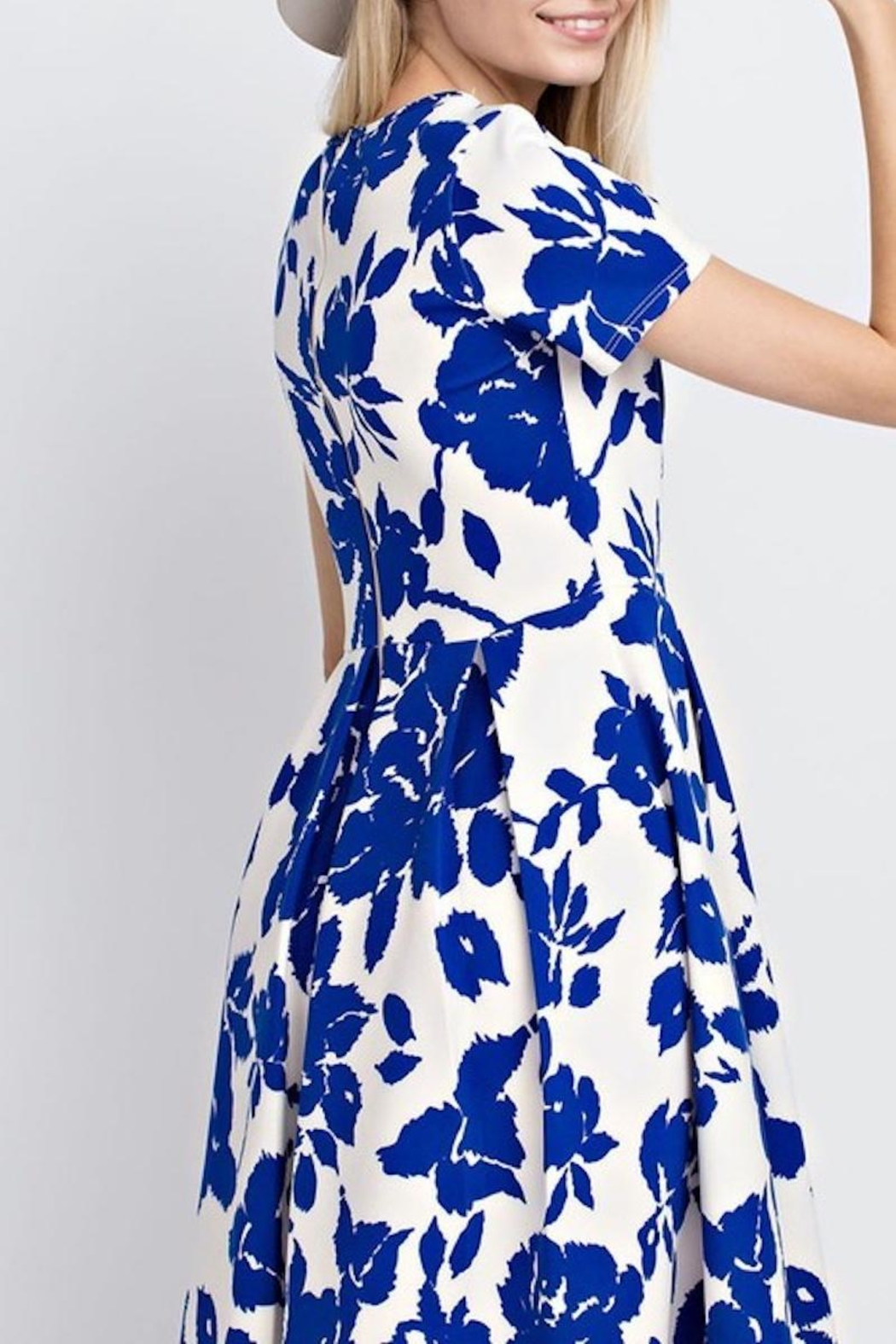 12pm by Mon Ami Royal Blue Floral - Side Cropped Image
