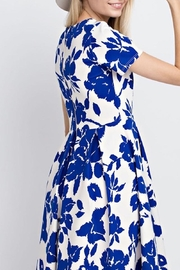 12pm by Mon Ami Royal Blue Floral - Side cropped