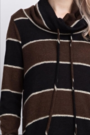 12pm by Mon Ami Striped Funnelneck Pullover - Back cropped