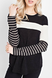 12pm by Mon Ami Striped Top - Product Mini Image