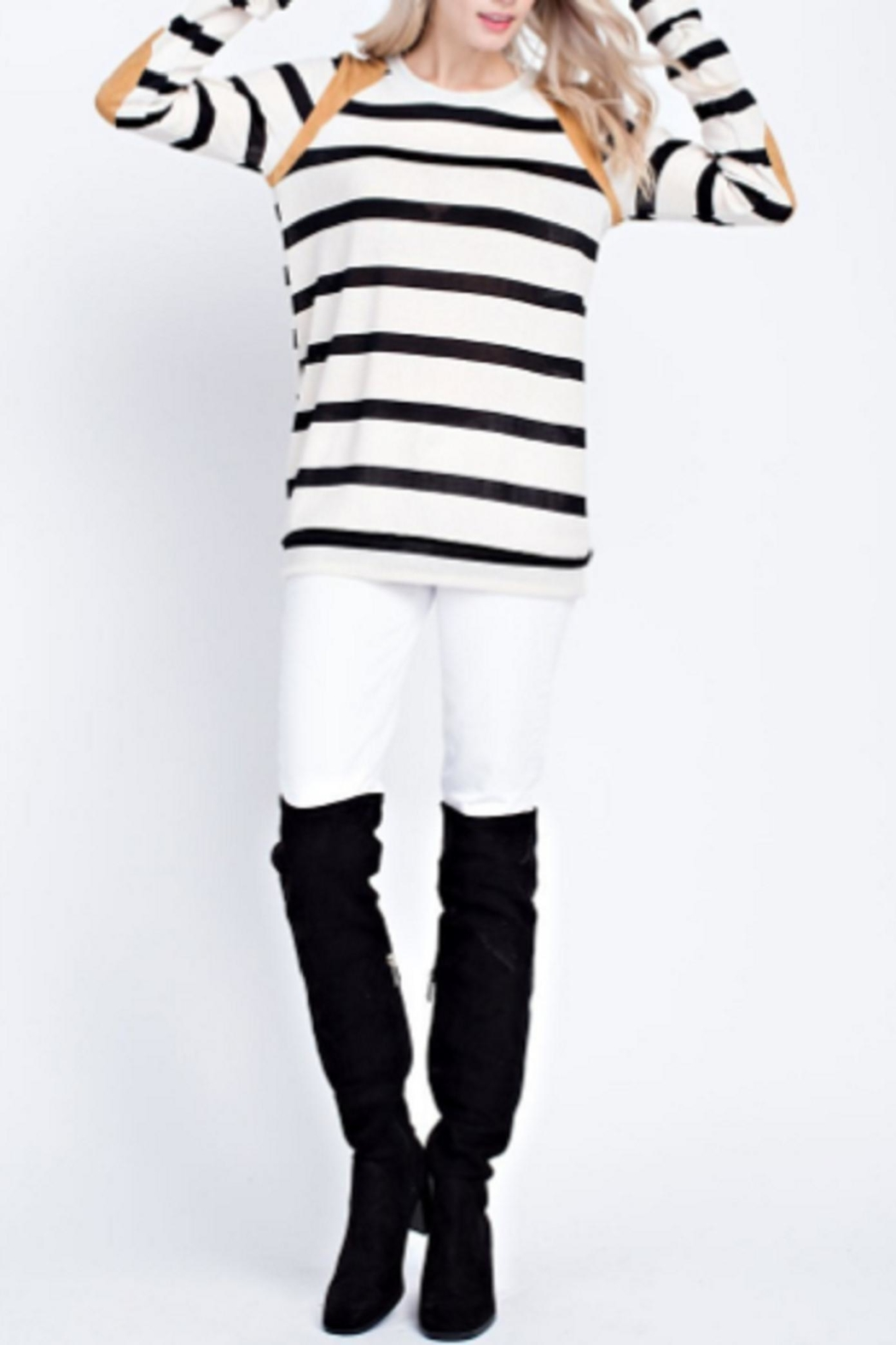 12pm by Mon Ami Stripes And Suede - Main Image