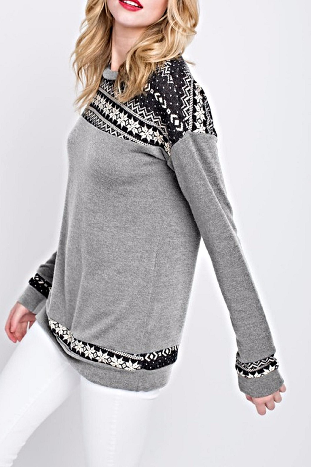 12pm by Mon Ami The Basia Sweater - Front Full Image