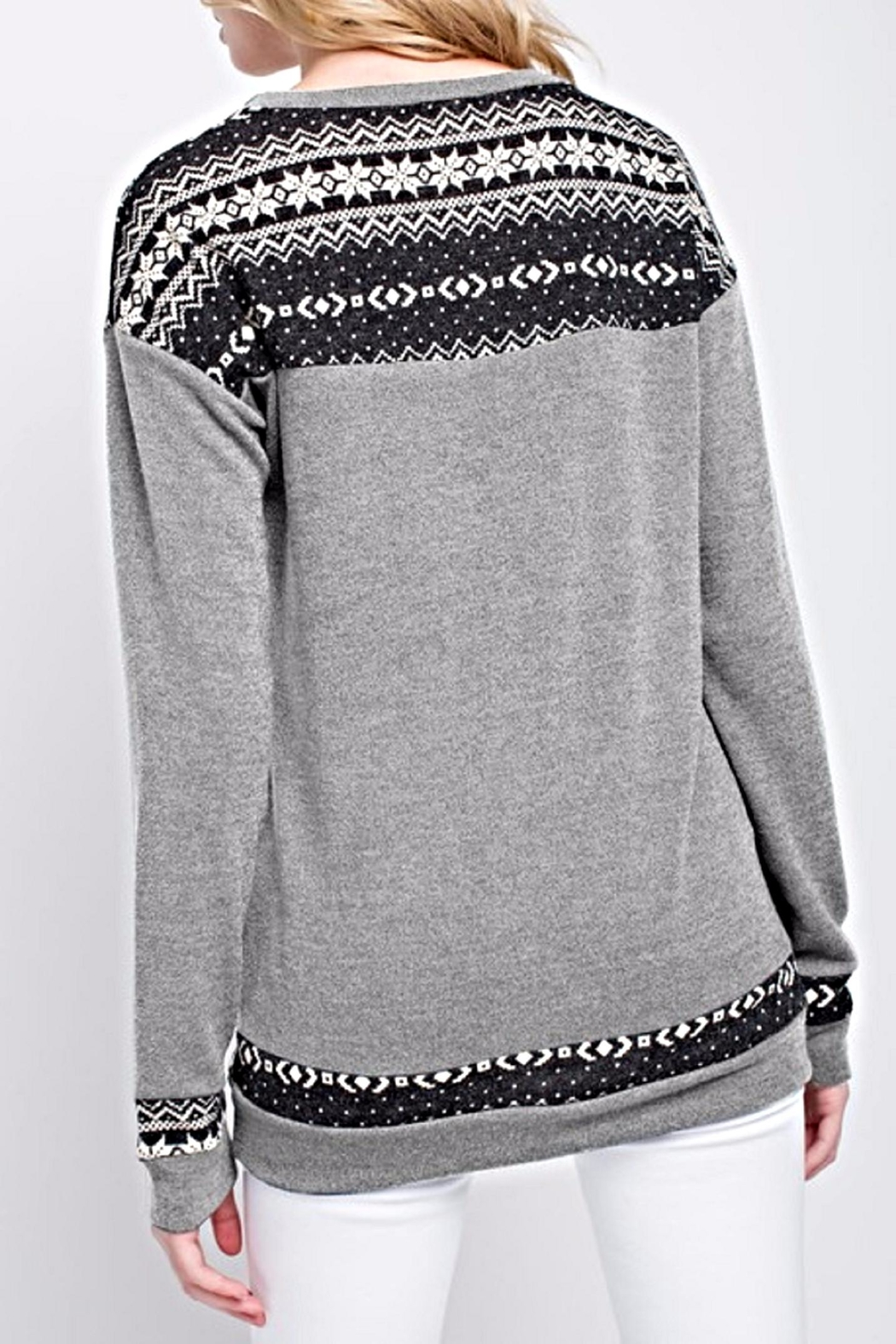 12pm by Mon Ami The Basia Sweater - Side Cropped Image