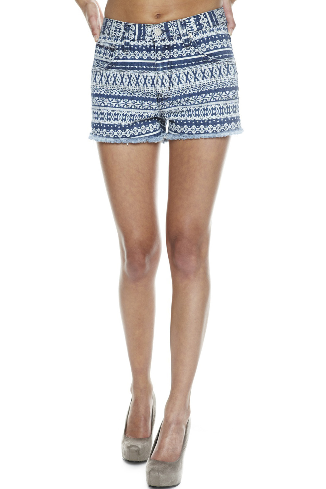 Washborn Tribal-Print Shorts - Main Image