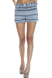 Washborn Tribal-Print Shorts - Front cropped