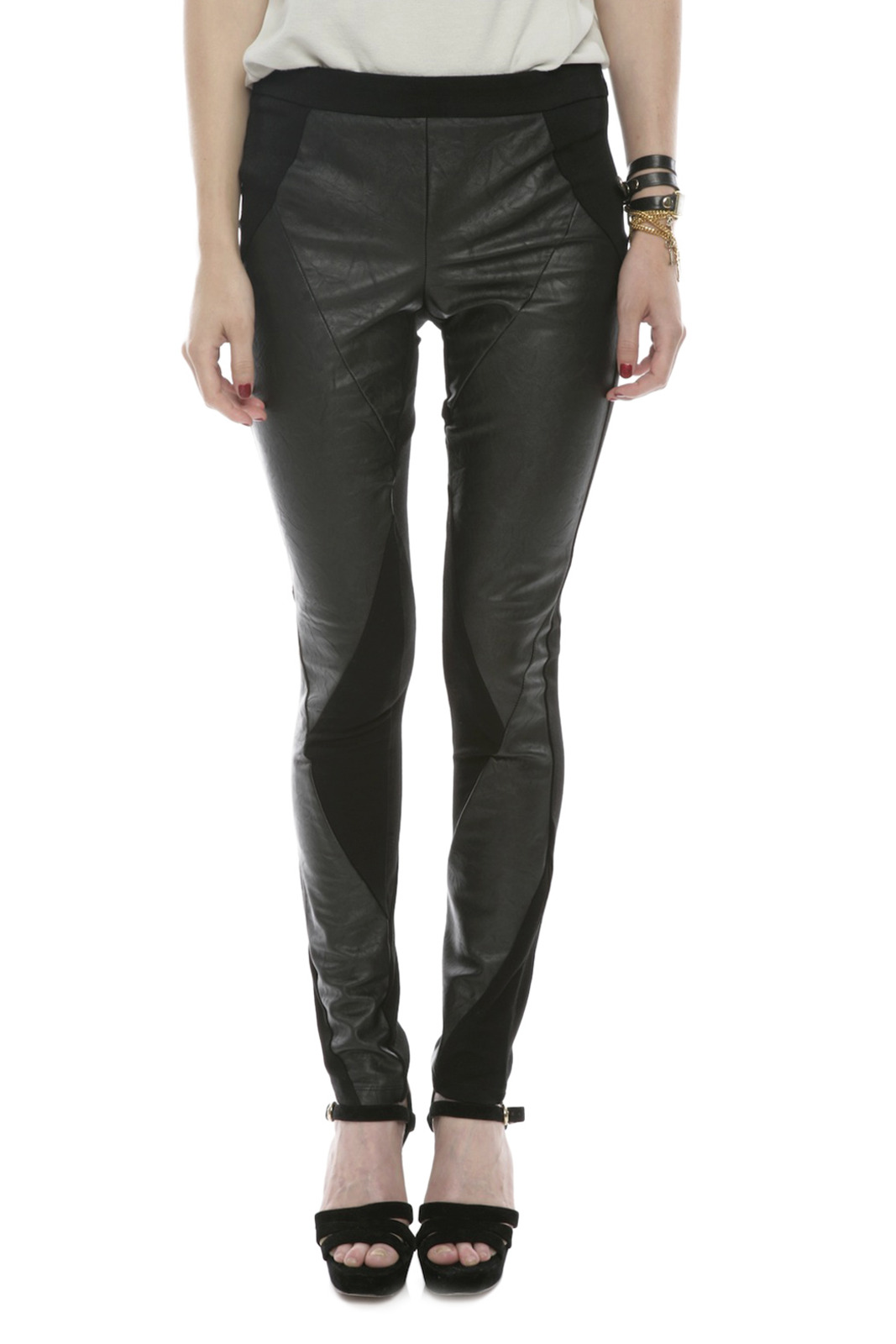 Ladakh Faux Leather Pants - Main Image