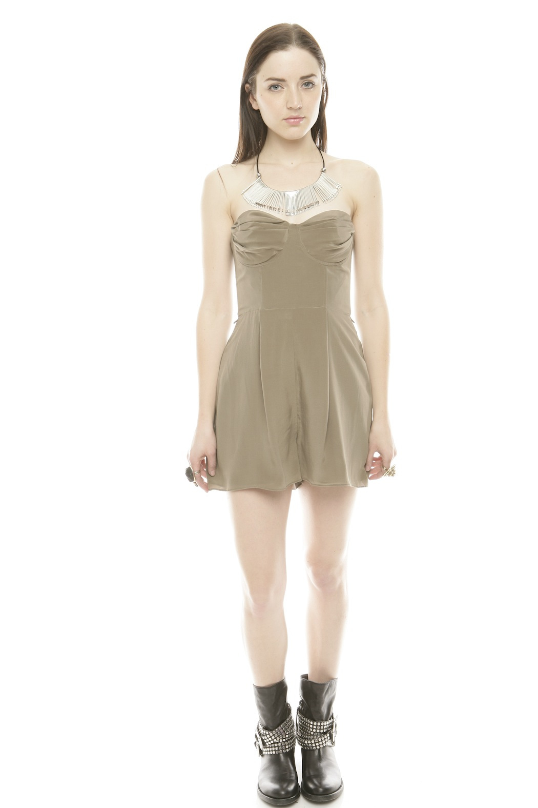 Zimmerman Silk Underwire Playsuit - Front Full Image