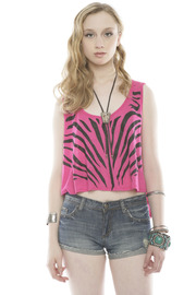 Shoptiques Product: Zebra Crop Top