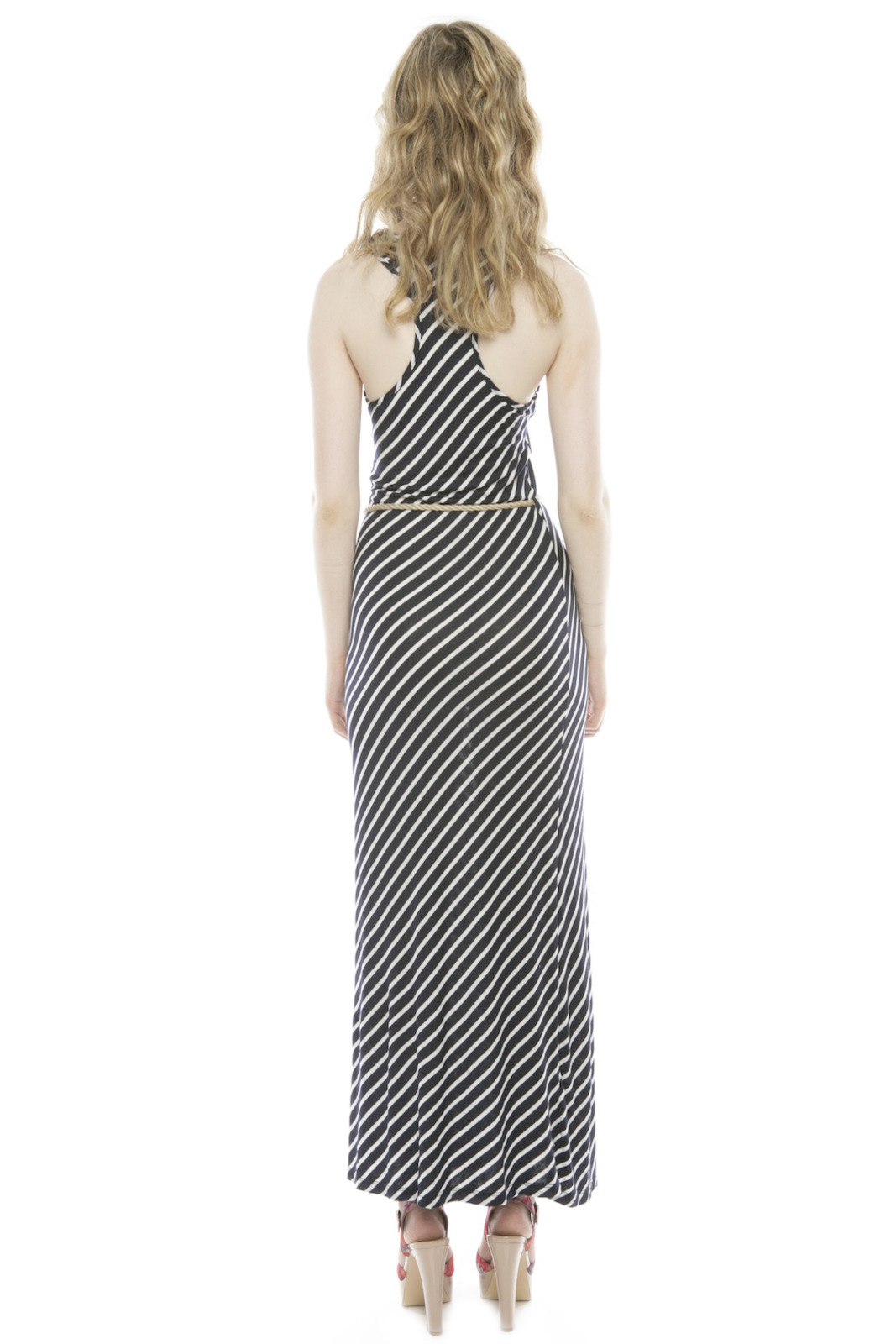 5th Culture Striped Maxi Dress - Side Cropped Image