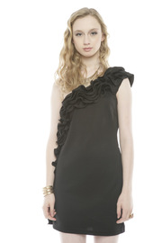 Shoptiques Product: Ruffled One-Shoulder Dress - Front cropped