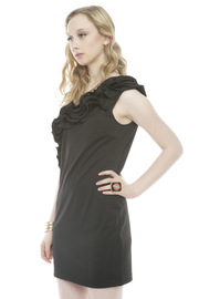 Shoptiques Product: Ruffled One-Shoulder Dress - Side cropped