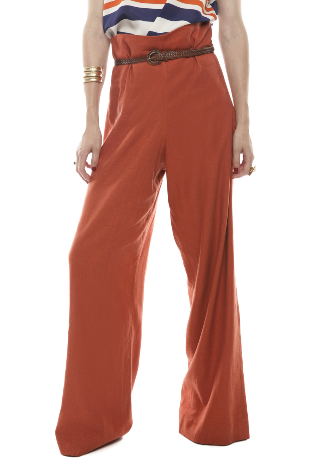 Devon Thomas Collection Wide-Leg Pants - Main Image