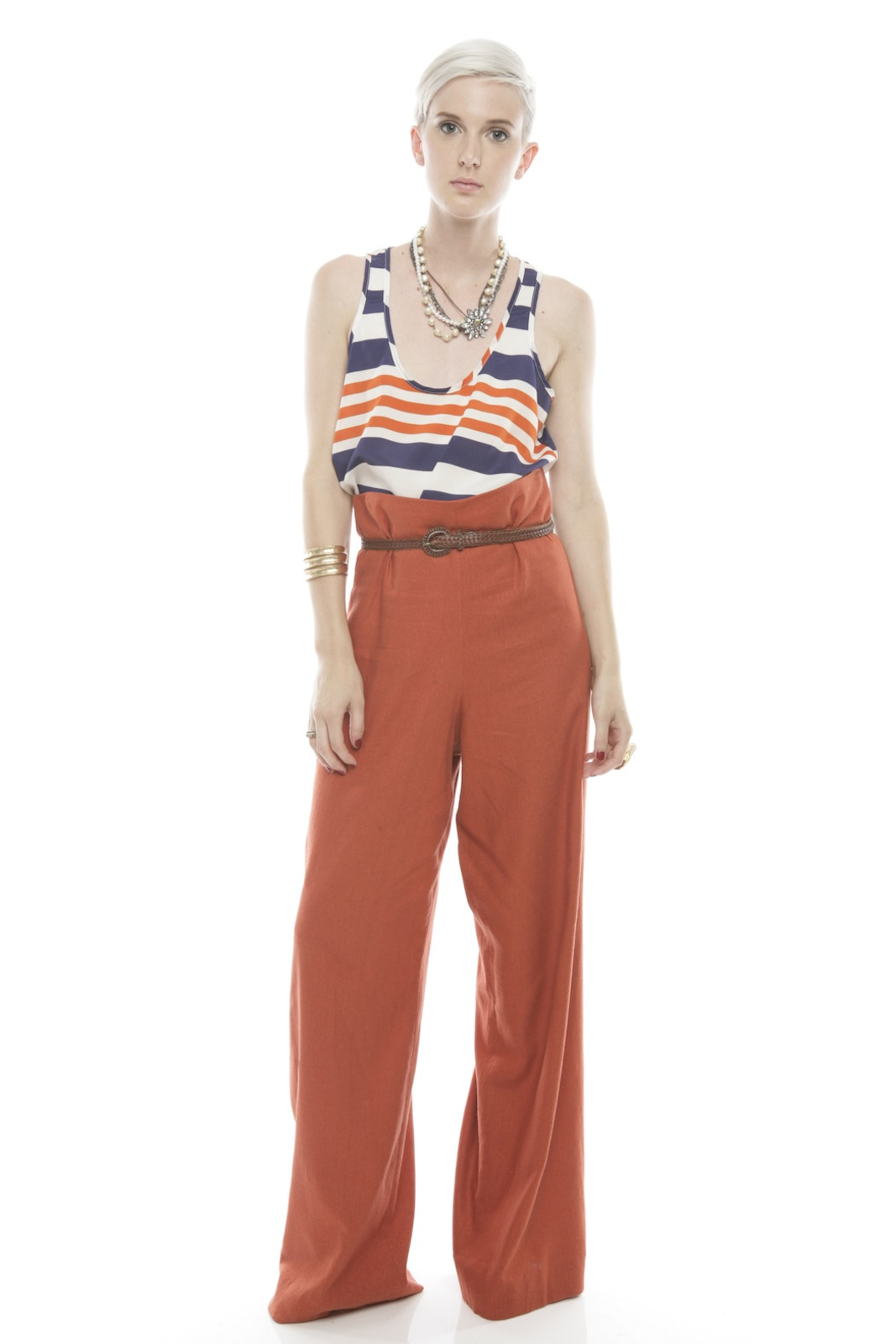 Devon Thomas Collection Wide-Leg Pants - Front Full Image
