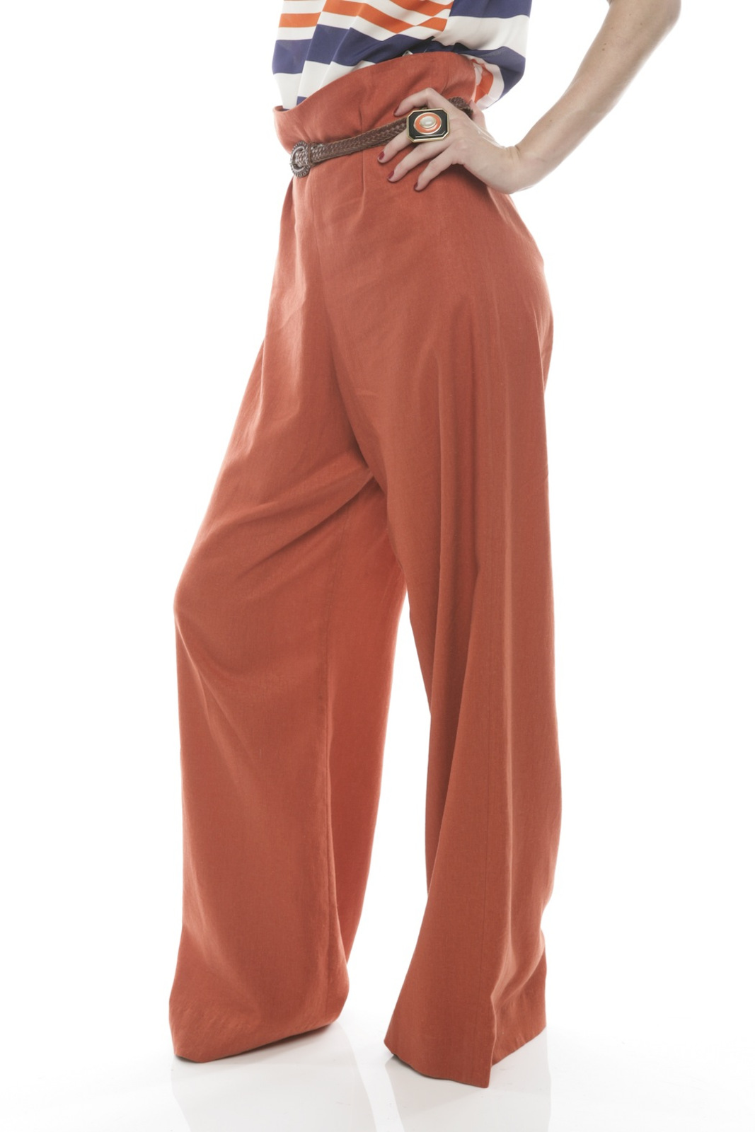 Devon Thomas Collection Wide-Leg Pants - Side Cropped Image