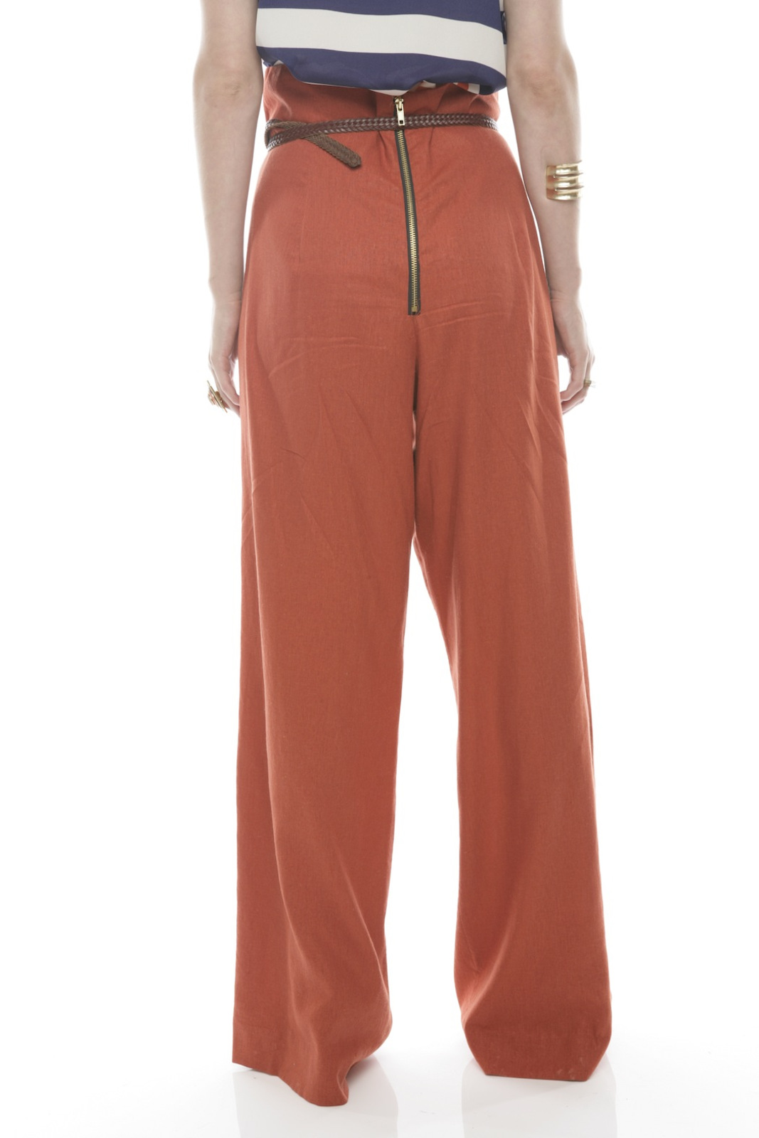 Devon Thomas Collection Wide-Leg Pants - Back Cropped Image