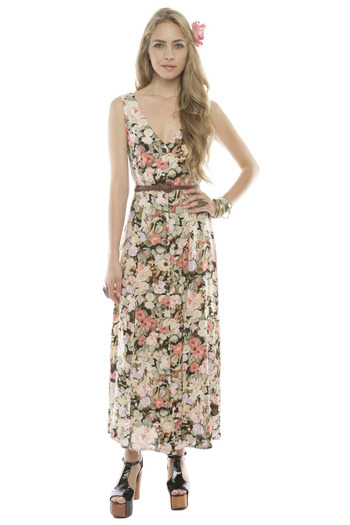 Shoptiques Product: Floral Button-Up Maxi Dress - main
