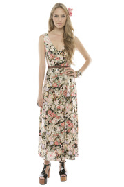 MinkPink Floral Button-Up Maxi Dress - Front cropped