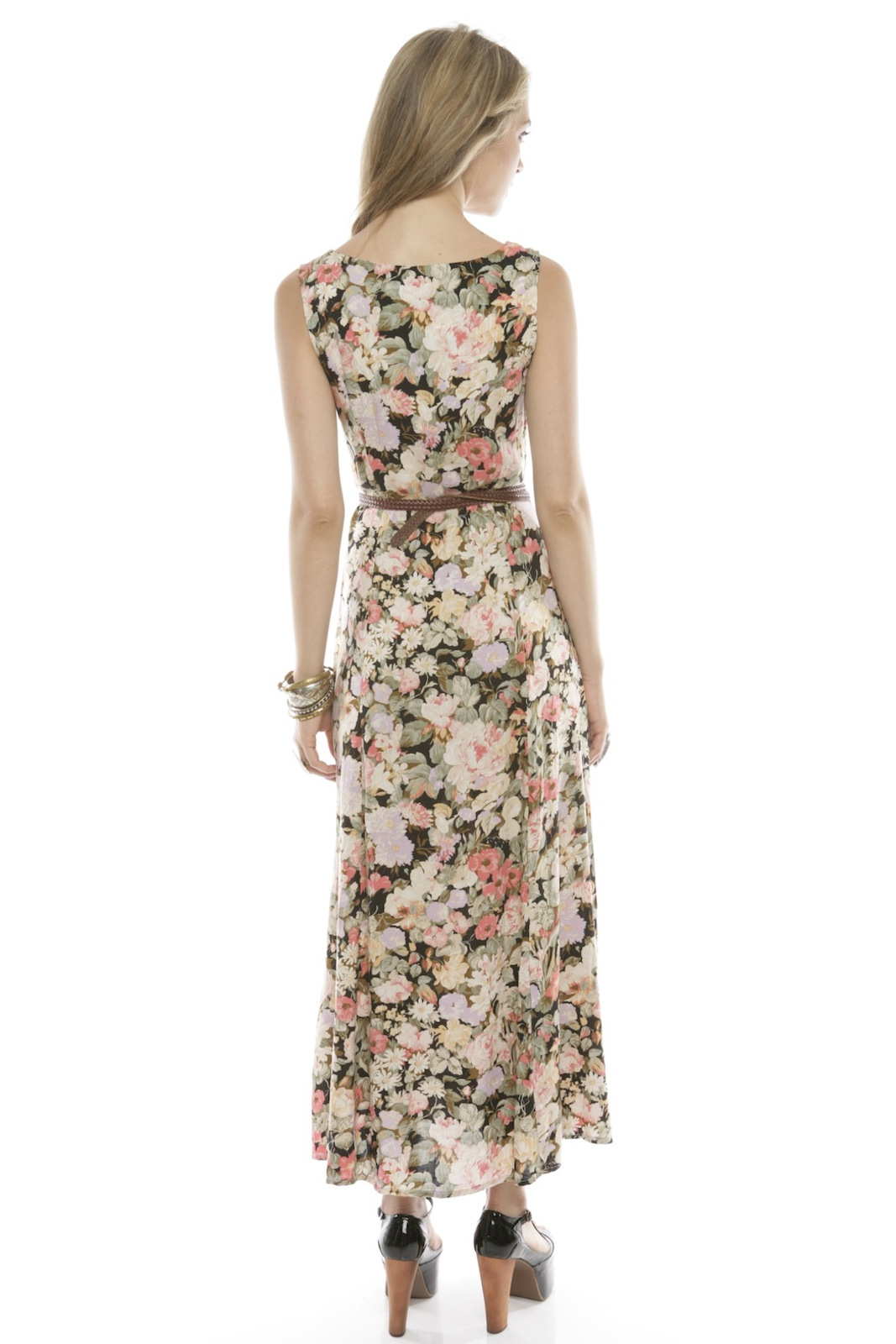 MinkPink Floral Button-Up Maxi Dress - Side Cropped Image