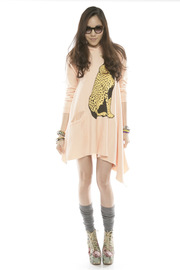 Shoptiques Product: Cheetah Hoodie Dress - Front full body