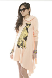 Shoptiques Product: Cheetah Hoodie Dress - Side cropped