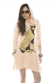 Shoptiques Product: Cheetah Hoodie Dress - Other