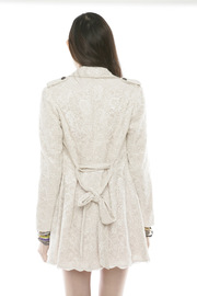 Lace Trench Coat - Back cropped