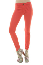BlankNYC Red Bold Jeans - Front cropped