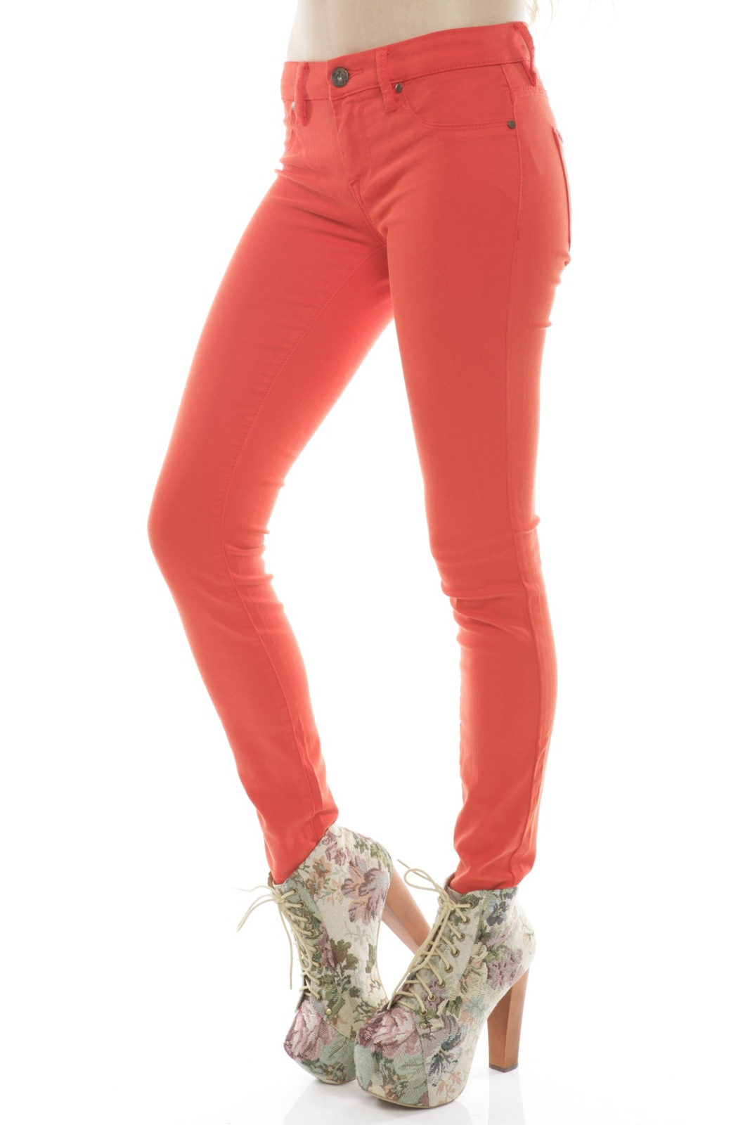 BlankNYC Red Bold Jeans - Side Cropped Image