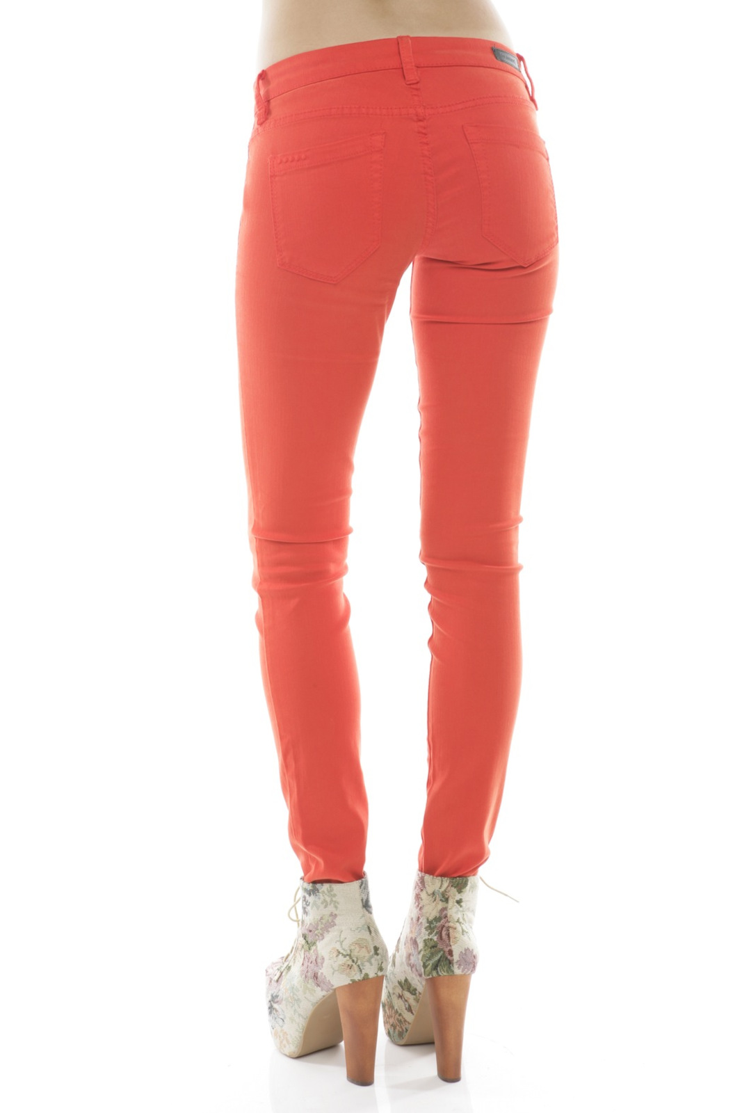 BlankNYC Red Bold Jeans - Back Cropped Image